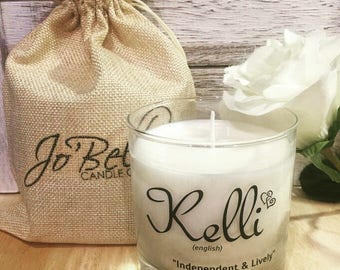Personalized Name Candle