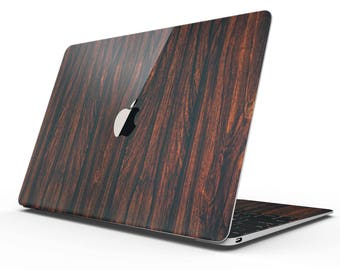 Rich Mahogany - Apple MacBook Luxury Textured Wood Decal Kit (All MacBooks Available)