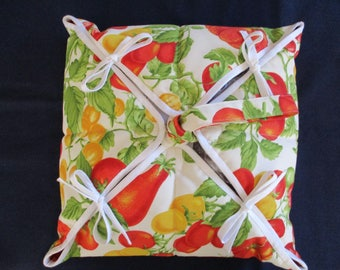 Bag has multicolored pizza Provencal printed fruit of the South