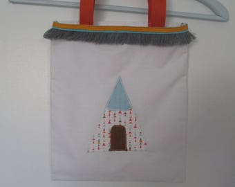 "bag-tote bag kids sport business, school snack ""TEEPEE"""