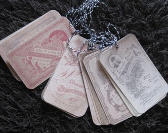 Set of large tags, vintage, retro, vintage advertising, Scripture