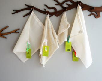 Zero waste essentials: breadbags & fruit + vegetable bags of organic cotton