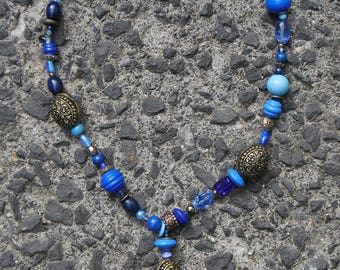 The blue butterfly necklace