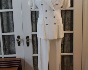 1980's Pantsuit with Optional Skirt