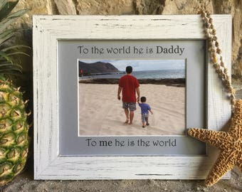Personalized Vacation Photo Mat and Frame