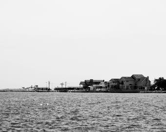 At The Docks - Black and White Photography