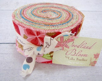 Woodland Bloom Jelly Roll by Lila Tueller for Moda