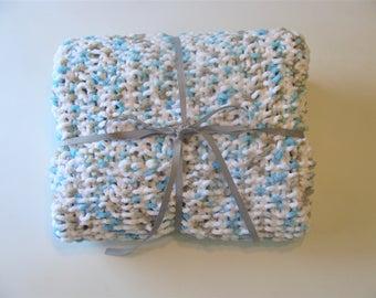 Boy Blue Knit Baby Blanket