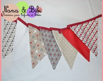 "Cotton on the ""Red and Beige"" theme flags Garland"