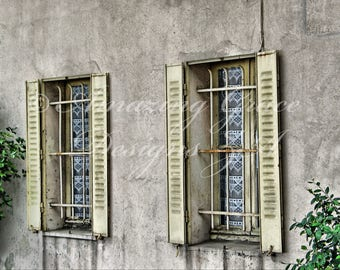 Printable Wall Art -Cannes Windows, Original Photography print