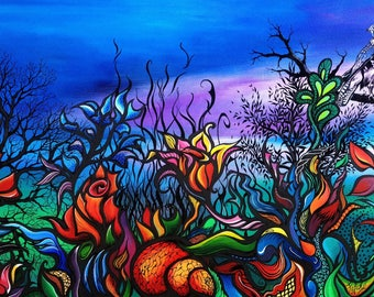"""""""Luxuriance"""" - painting on canvas Board"""