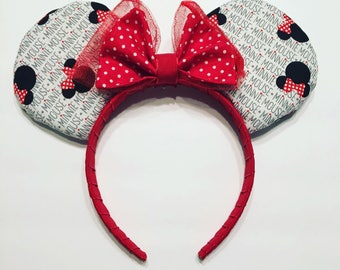 Red, White andBlack Mrs Mouse Ears