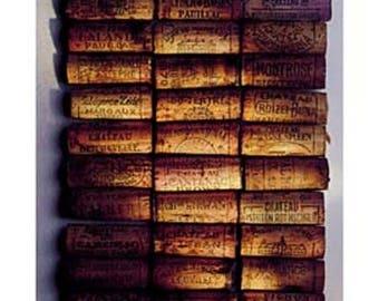 WALL poster * corks, wine Burgundy * 30 cm x 24 cm