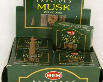 Box of 10 incense cones to scent your home Musk