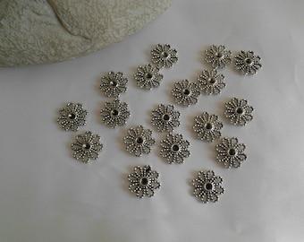 lot 4 connectors flower 14x14mm
