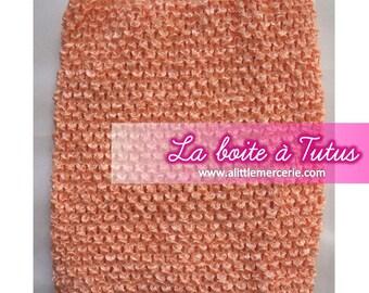 ★ 0/12 months crochet baby tutu dress strapless stretch / girl ★ PEACHY salmon