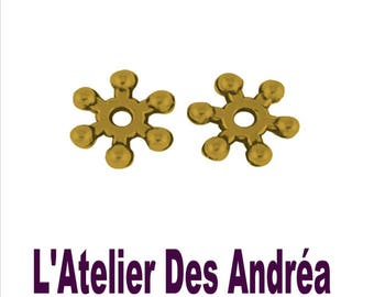 SET OF 50 8 MM ANTIQUE GOLD COLOR SPACER BEADS