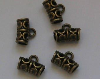Set of 10 bails tubes bronze 12mm