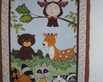 child Panel quilting flannel, animals