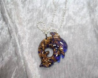 murano glass Dolphin pendant necklace