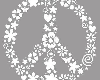 Stencil 20 x 20 cm - Peace - ST20