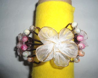 Brown Butterfly with pearl bracelet