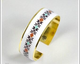 Bangle 2 cm gold plated 24 k Inka Maria 3 colors