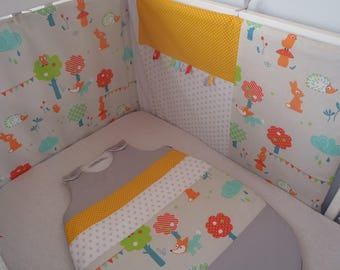 """Bumper and sleeping bag 0-6 months mixed range """"Simply"""" customizable to order"""