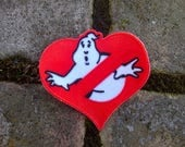 Ghostbusters Haunted Valentines Embroidered Patch
