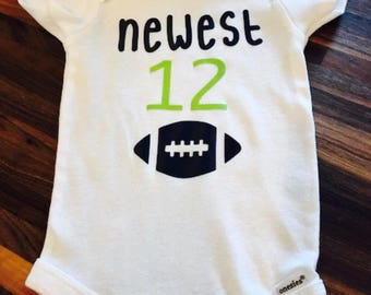 Newest 12 Seahawks baby onesie
