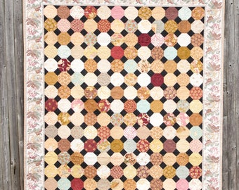 Snowball and Passion Flower Vines - Machine Quilted Quilt