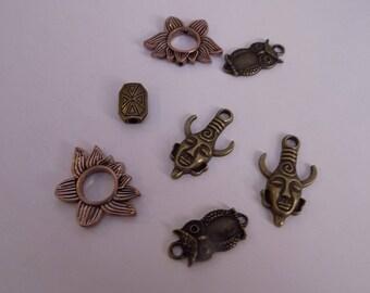 7 pendants mixed color Bronze