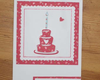 birthday cake with candle card
