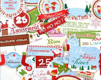 Embellishments - Die cut - the Christmas Elves - 45 words paper - Toga - new