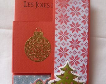 "card plus envelope ""The joys of Christmas"""
