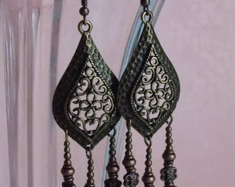 Dana in bronze and copper earrings ❤