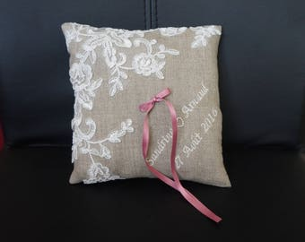 cushion linen and lace