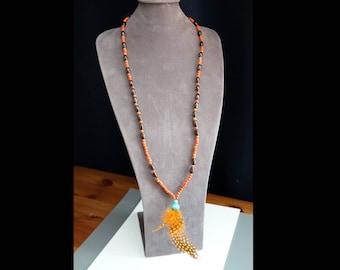 Dream Catcher: Firebird feathers necklace