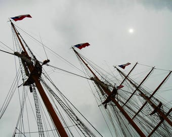 "CHILEAN TALL SHIP During a Visit to the Corpus Christi, Texas Area For The ""Sail Corpus Christi"" Event."