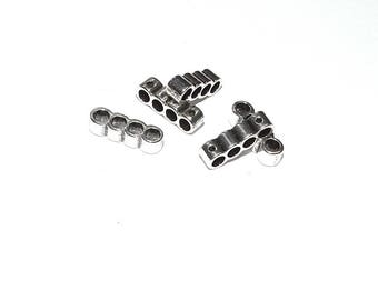 Separator Metal for 4 cords (3.2 mm hole) rounds - silver - SEPMCR315AG070