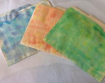 Tie-dye folders