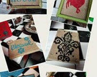 Hand painted canvas wall hanginings