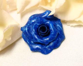 Blue rose cabochon * summer night *.