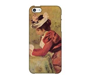 Case for iPhone 4-5-6-7, woman reading Pierre - Auguste Renoir