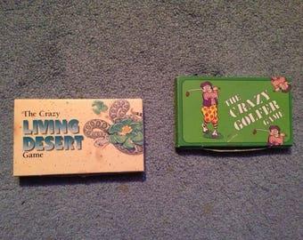 The Crazy Living Desert & Crazy Golfer Game mid-1990's Paperback Games *Look*