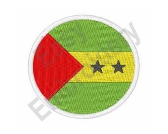 São Tomé & Príncipe Flag - Machine Embroidery Design