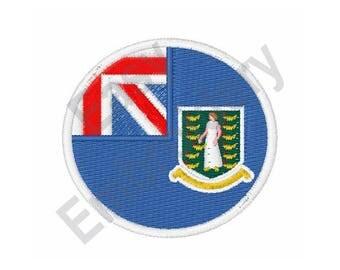 British Virgin Islands Flag - Machine Embroidery Design