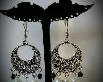 Pair of Angel wings and Pearl Earrings