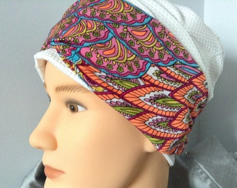 Micro fiber multicolored twisted turban headband