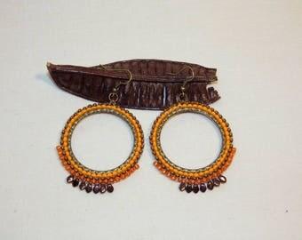 Earrings hoops and beads